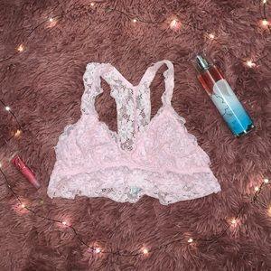 Light pink, lace, racer back bralette